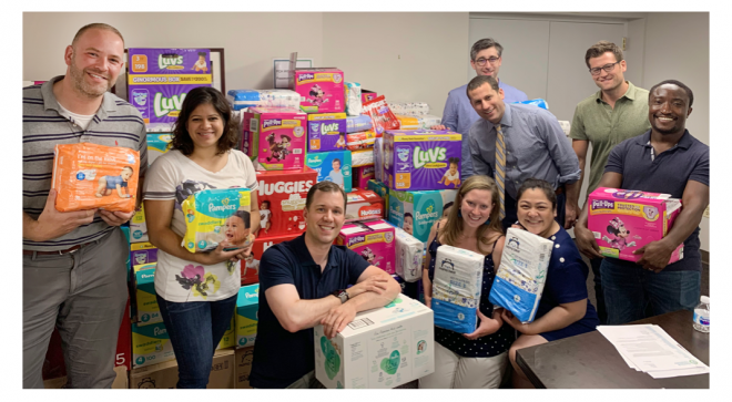 Wilton Man Among Organizers of FCA Drive that Brings in More Than 15,000 Diapers
