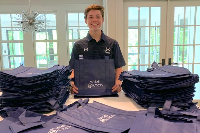 It's In the Bag for Wilton Teen, Whose Project is Wise for Environment and Wilton Charities