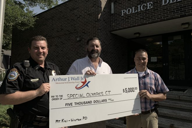 Wall Foundation Donation Helps Kilimanjaro-Climbing Wilton Police Fundraise for Special Olympics