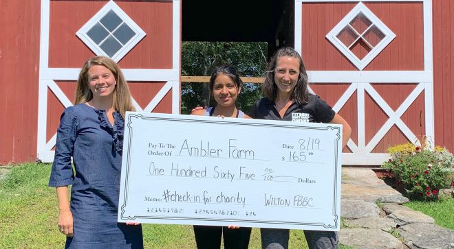 Wilton Fit Body Boot Camp Clients 'Check-In' Online, and Local Organizations, Like Ambler Farm, Benefit
