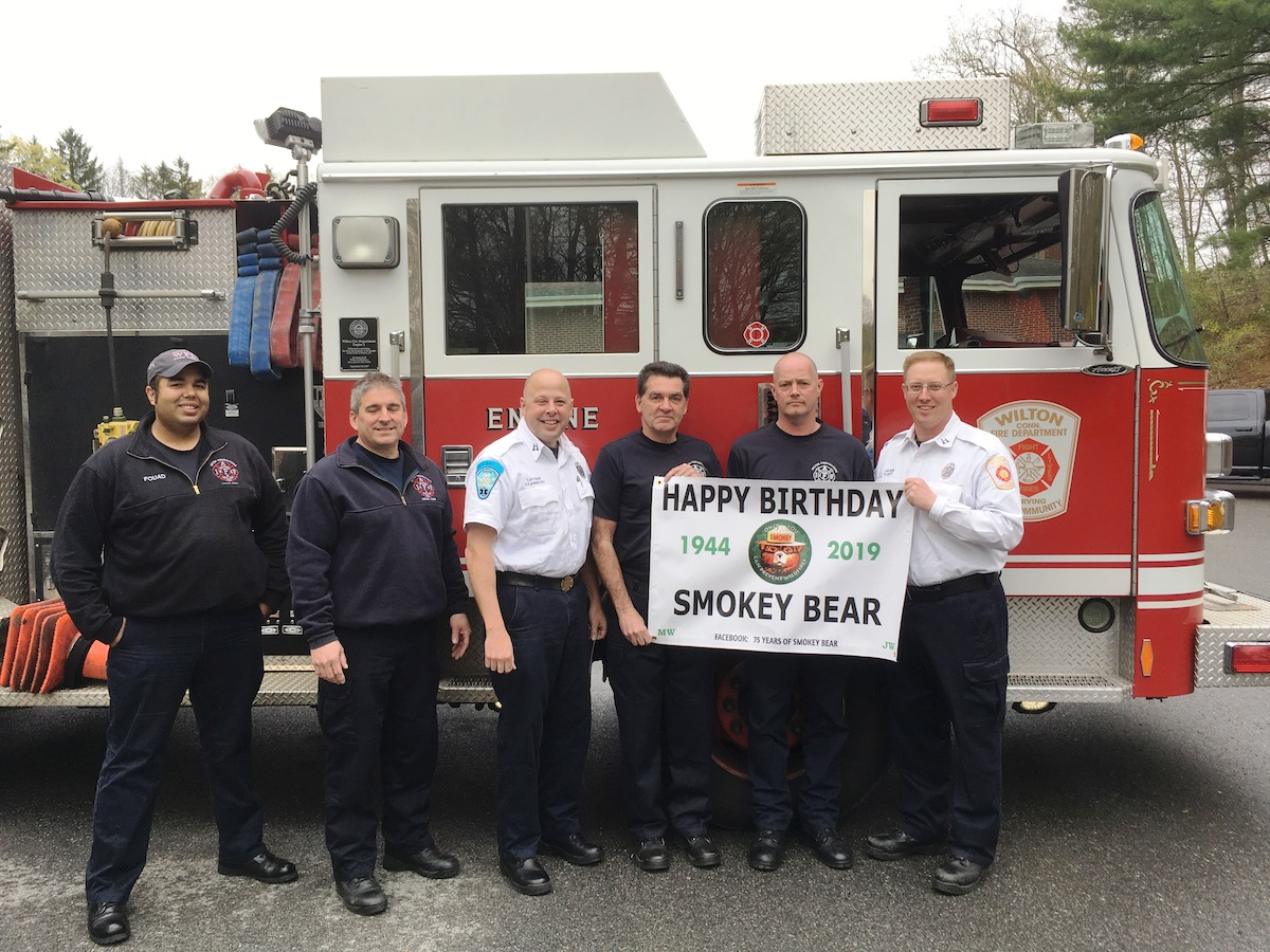 Wilton Fire Department Celebrates Smokey the Bear's 75th Birthday