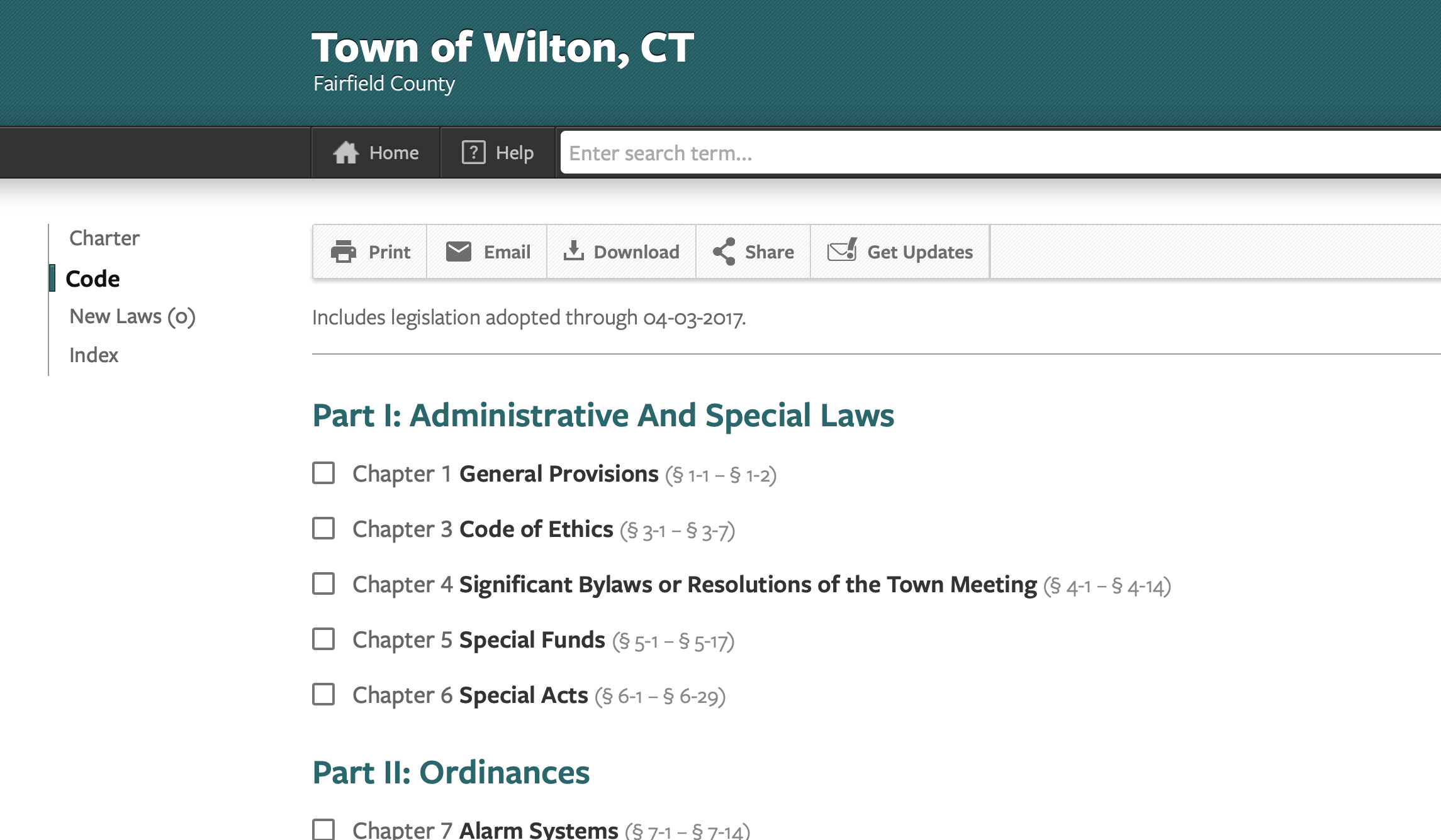 Town Publishes 'Better' Searchable Charter and Ordinances Online