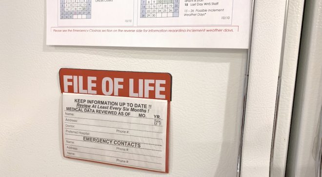 "Wilton Volunteer Ambulance Corps Offers Free Refrigerator ""File of Life"" Magnets to Residents"