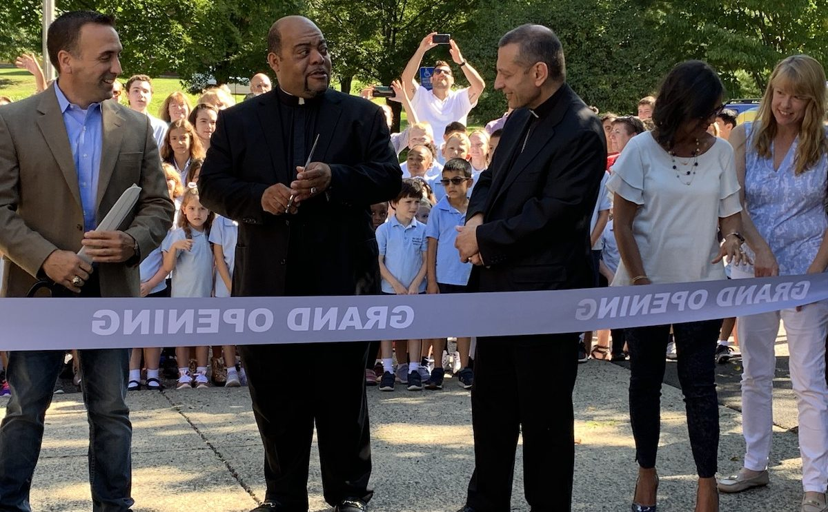 Bishop Caggiano Helps OLF School Celebrate Ribbon Cutting for New Academy [PHOTOS]
