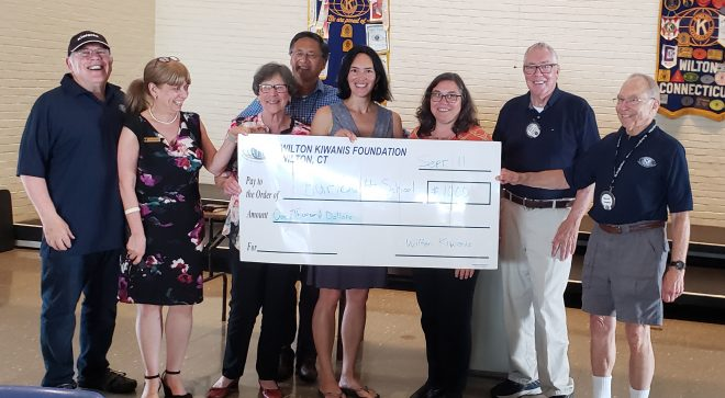 Kiwanis Club Makes Donations to Stay at Home in Wilton & Hurlbutt St. Schoolhouse [PHOTOS]