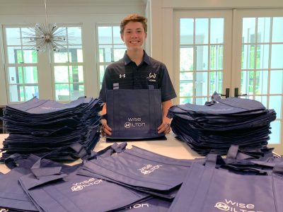 Cole Stephenson with bags
