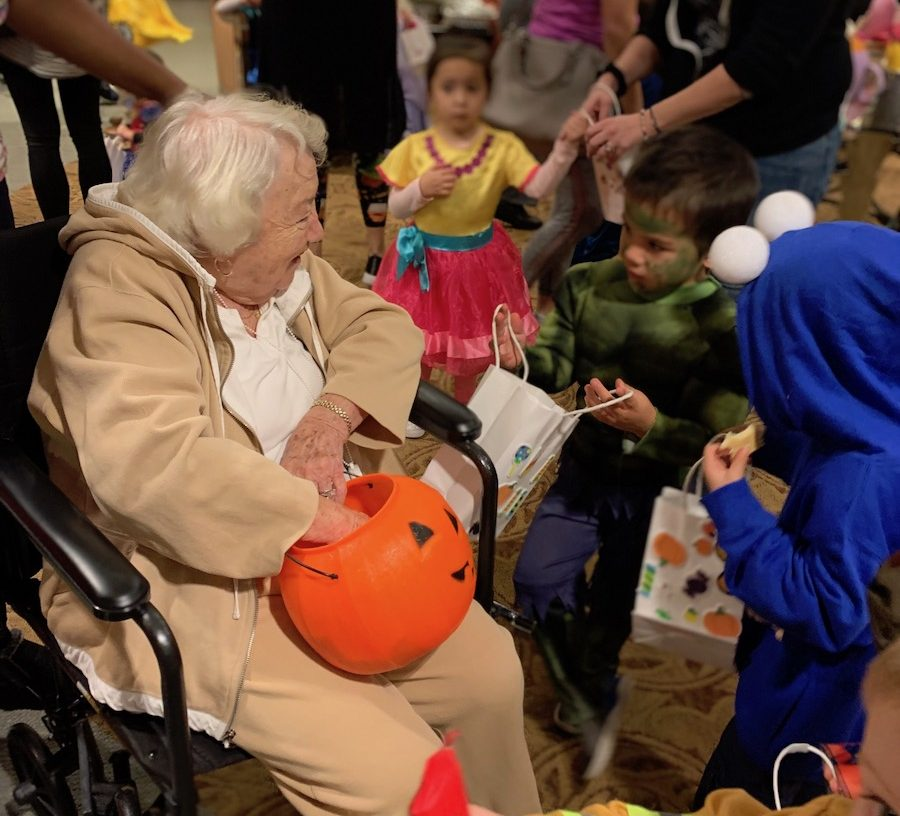 First Steps Preschool Ghosts and Gobblins Visit Residents of The Greens [PHOTOS]