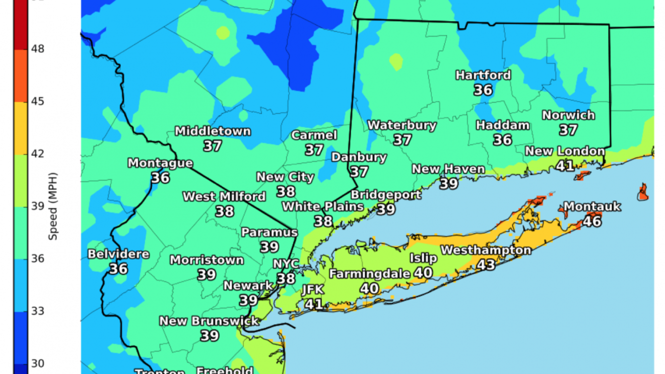[UPDATED, THURSDAY A.M.]  After Heavy Rain, Strong Winds will Blow