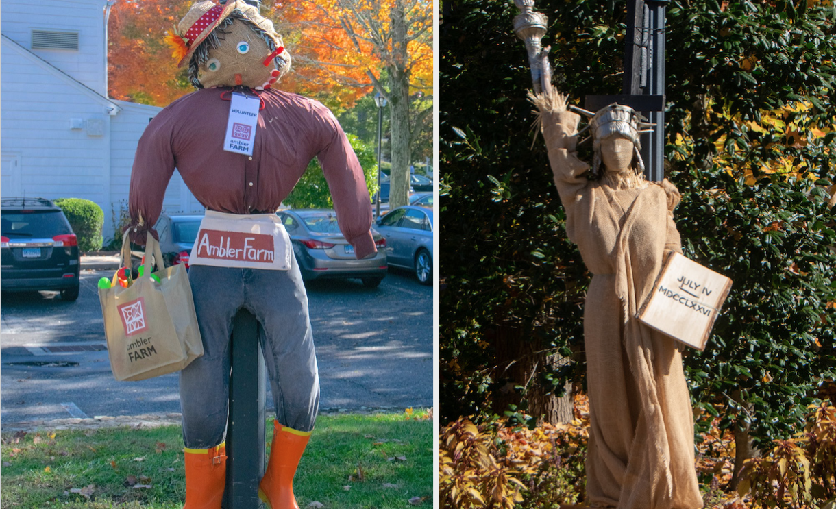 Scarecrows…and ScareBears, ScarePigeons,  and More in Wilton Center [PHOTOS]