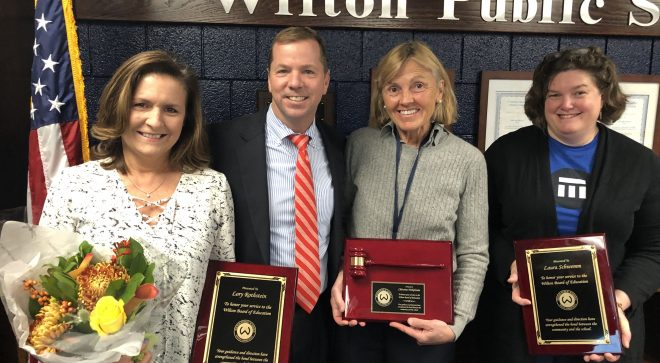 Board of Education Recognizes Three Retiring Members