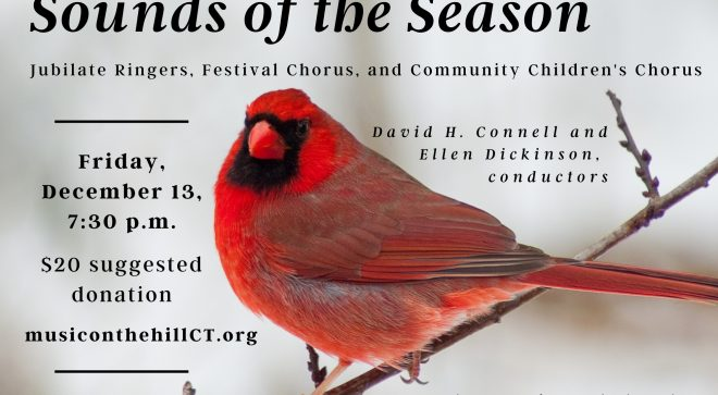 Call for Singers: Music on the Hill Holiday Concert, Dec. 13