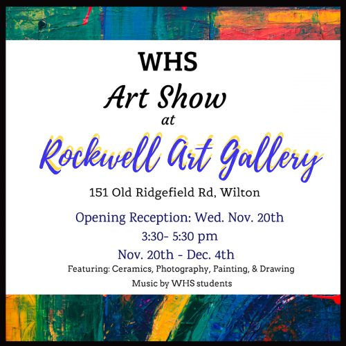 WHS Art Students Rockwell Art Gallery Exhibit invite