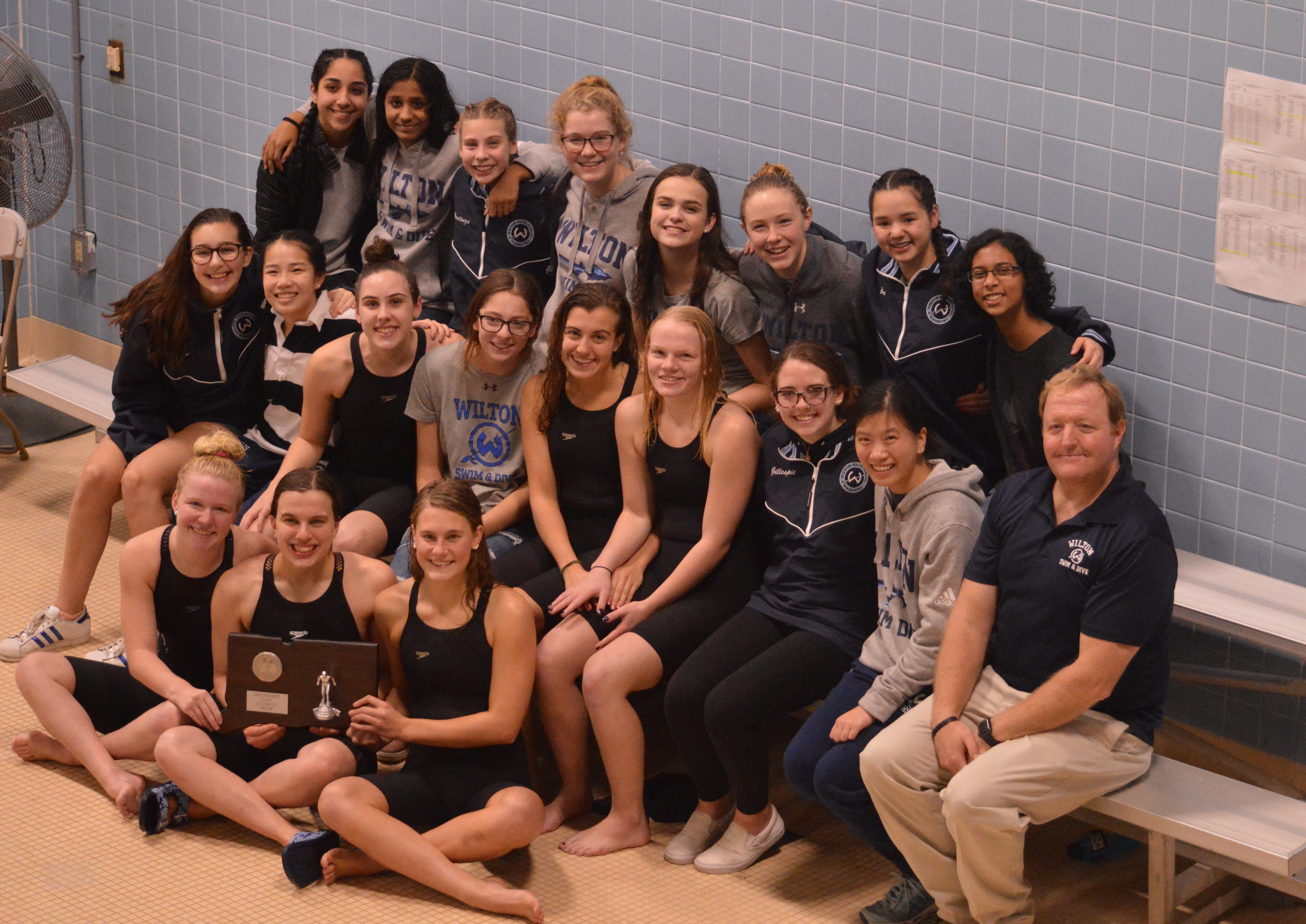 WHS Girls Swim & Dive Team Take 2nd in Class L State Finals, 8th in State Open Finals