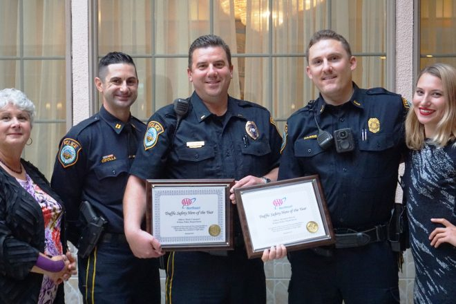 AAA Honors Wilton Police Department & Two Officers as Traffic Safety Heroes
