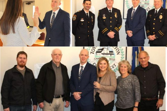Wilton Police Swear in Former Dispatcher as New Officer