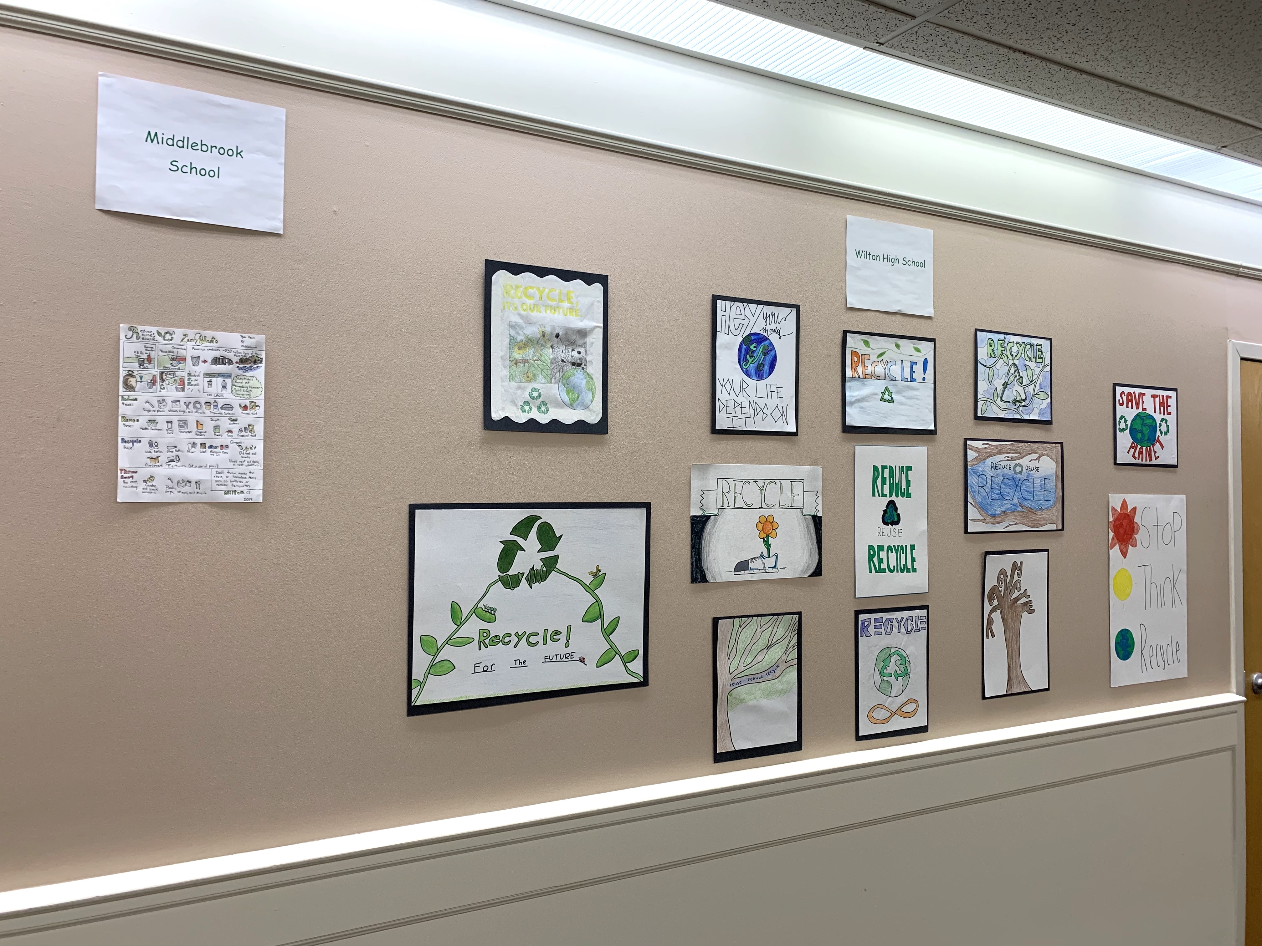 "Town Hall's ""Reduce, Reuse, Recycle Poster Contest"" Winners Announced"
