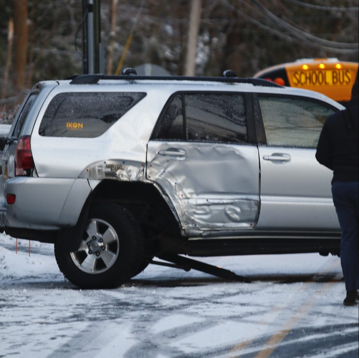 Accidents Aplenty After Ice Storm & Snow Squall Make Wilton Roads Treacherous