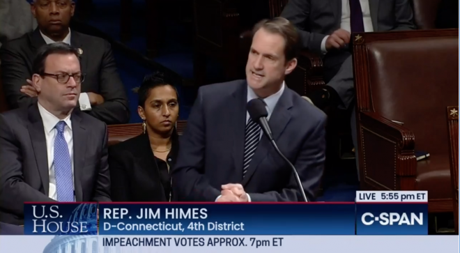 President Impeached; Himes Calls for Holding Trump to Account [VIDEO]