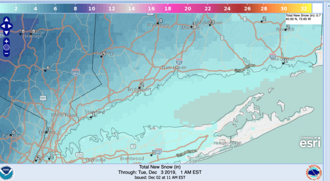 Snow Central–Updates on the Monday, Dec. 2 Storm