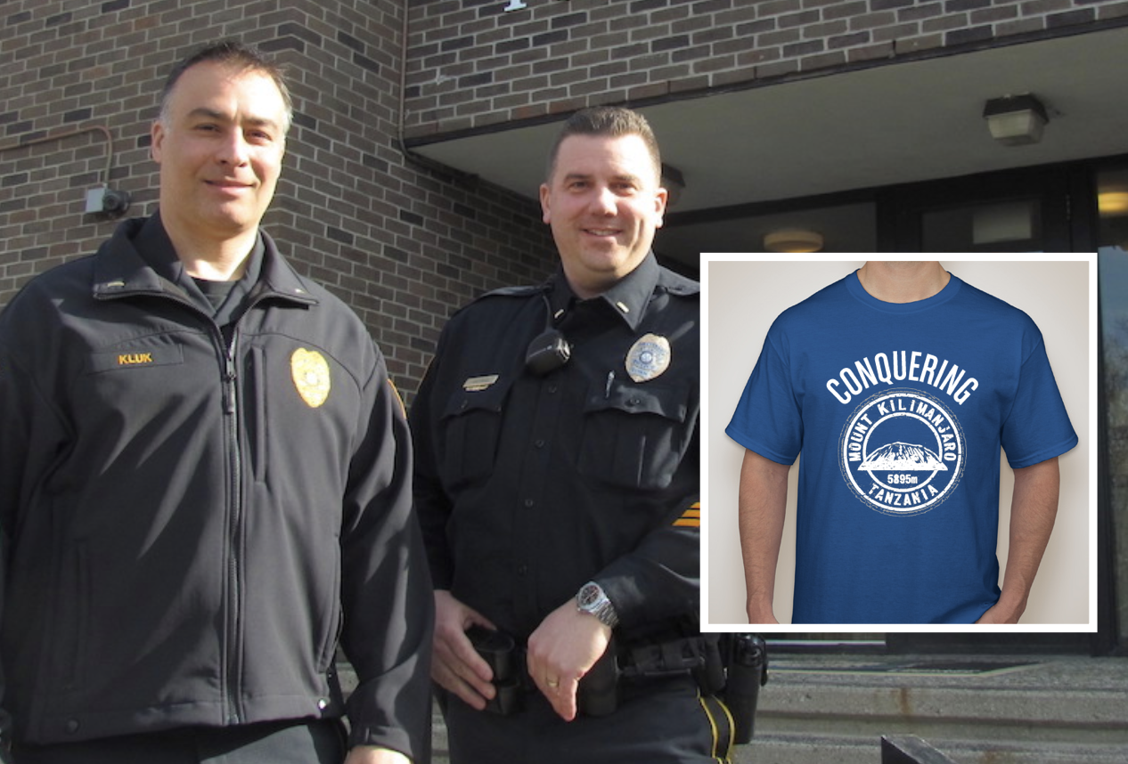 WHS T-Shirt Fundraiser Supports Wilton Police Officers' Mt. Kilimanjaro Special Olympics Climb
